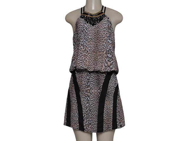 Vestido Feminino Lado Avesso 89677 Onca/preto