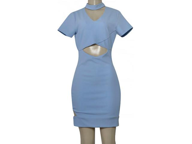 Vestido Feminino Lado Avesso 104493 Azul Claro