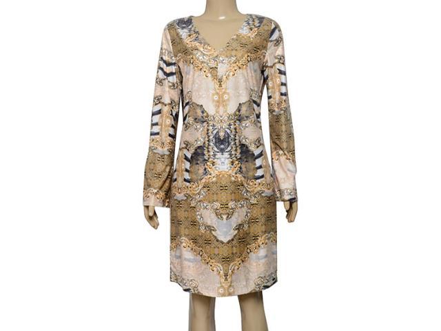 Vestido Feminino Lado Avesso 101649 Dourado