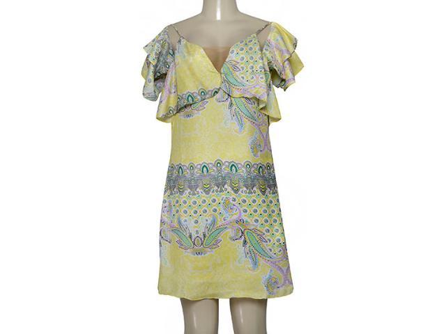 Vestido Feminino Lado Avesso 99577 Amarelo Estampada