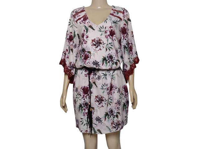 Vestido Feminino Lado Avesso 101643 Rosa Estampado