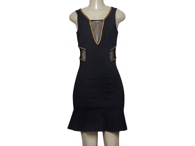 Vestido Feminino Lado Avesso 100485 Preto
