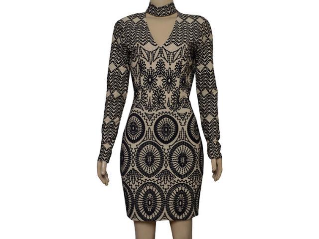 Vestido Feminino Lado Avesso 101629 Nude/preto