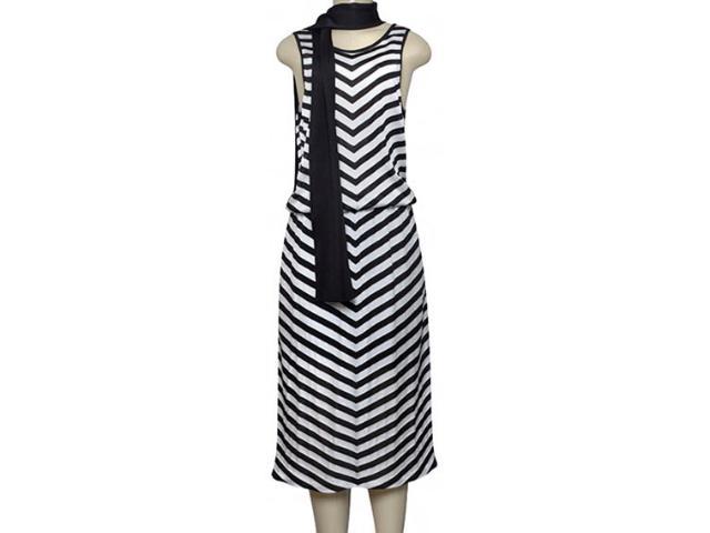 Vestido Feminino Lafort Ry1774 Preto/branco