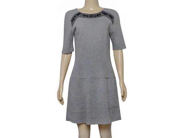 Feminino Vestido Lafort E17l213 Cinza