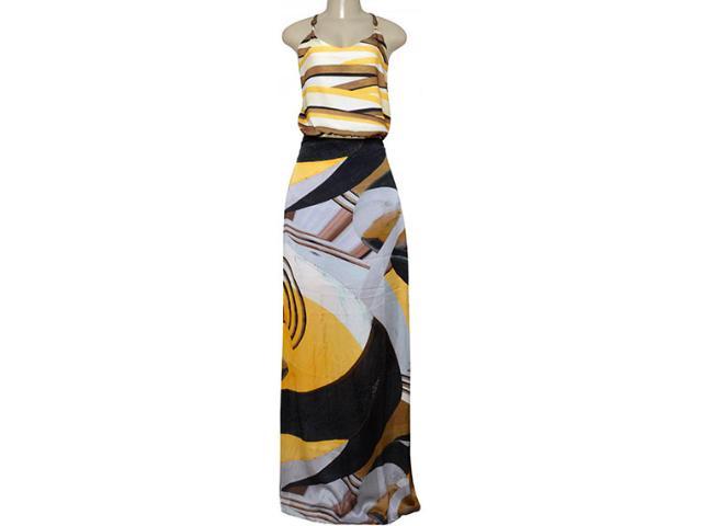 Vestido Feminino Maria Valentina 103532 Estampado Amarelo
