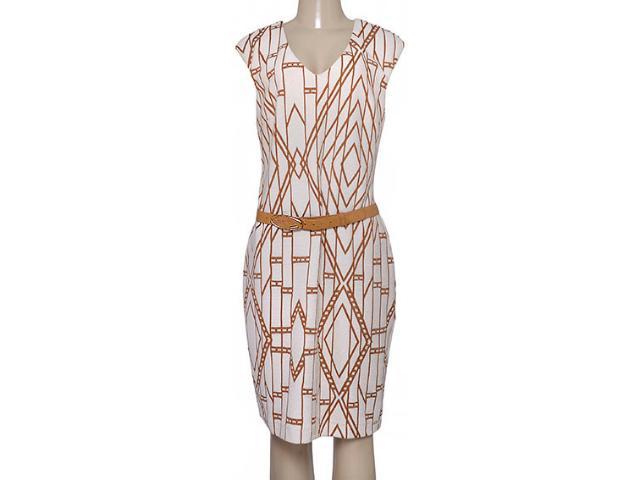 Vestido Feminino Maria Valentina 103675 Bege/marrom