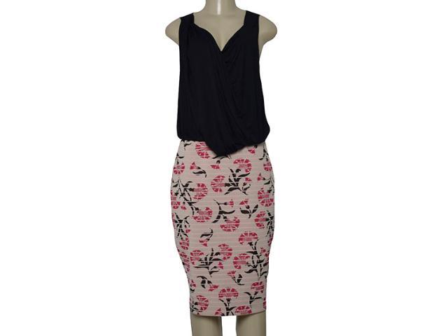 Vestido Feminino Maria Valentina 103995 Estampado Pink