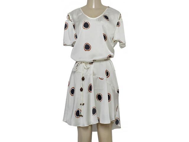 Vestido Feminino Maria Valentina 104754 Off White Estampado