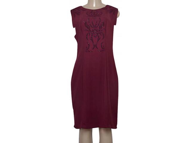 Vestido Feminino Maria Valentina 104423 Borgonha