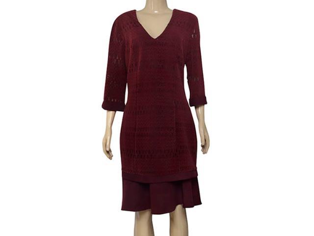 Vestido Feminino Maria Valentina 104429 Bordo