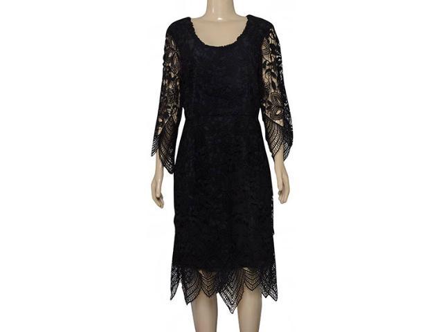 Vestido Feminino Maria Valentina 104221 Preto