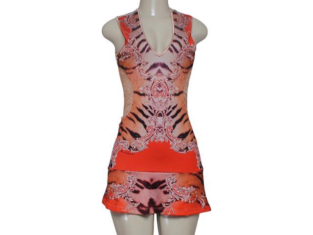 Vestido Feminino Moikana 8015 Areia/laranja