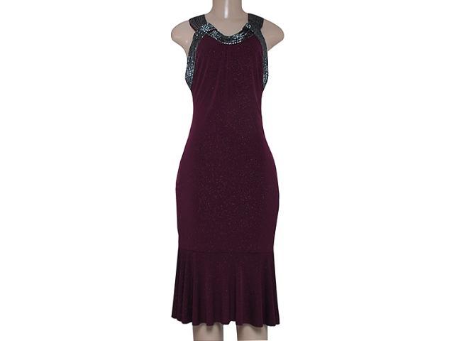 Vestido Feminino Moikana 12065 Vinho