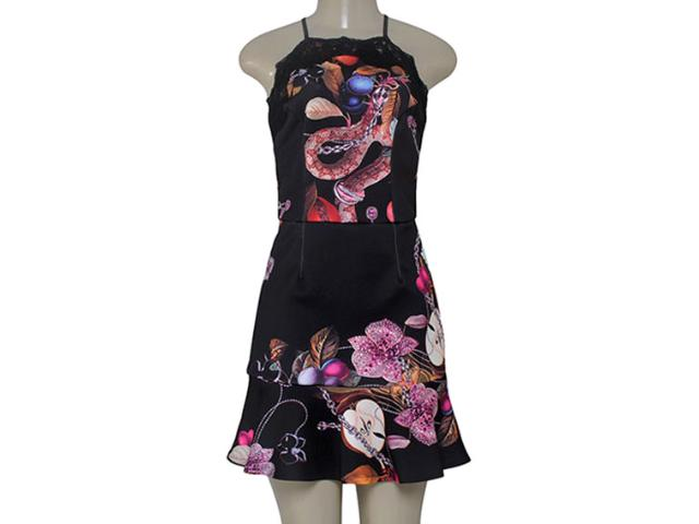Vestido Feminino Moikana 160121 Preto
