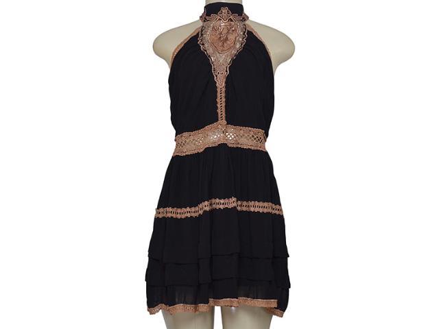 Vestido Feminino Moikana 16057 Preto/marrom