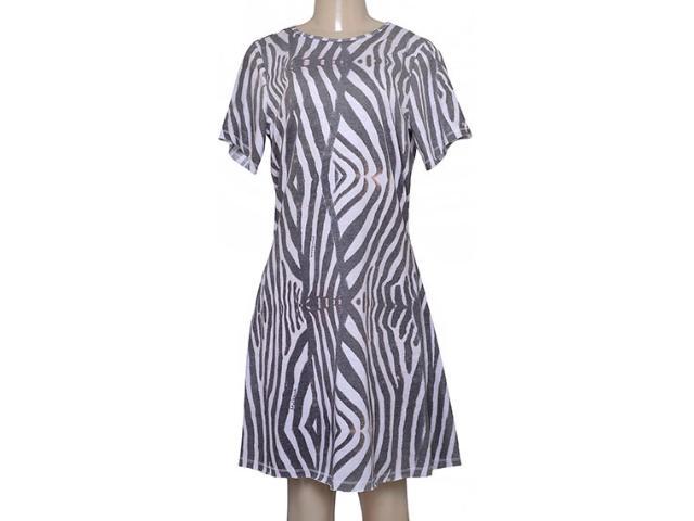 Vestido Feminino Moikana 180054 Preto/off White
