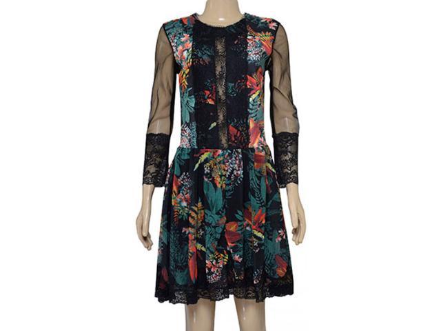Vestido Feminino Moikana 180008 Preto Floral