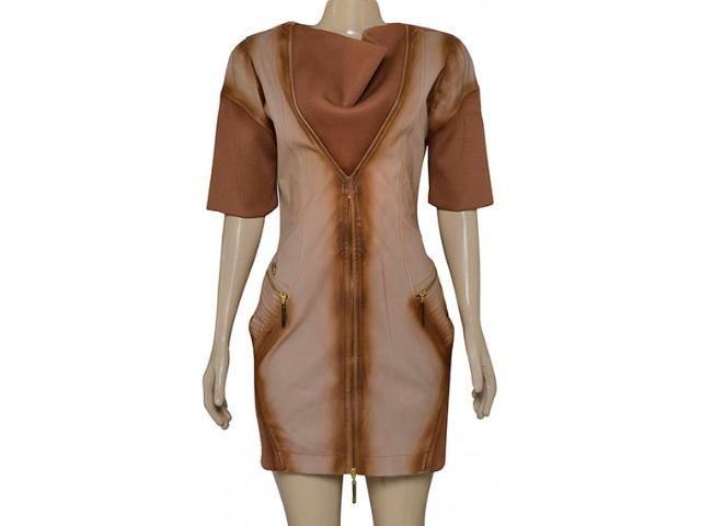 Vestido Feminino Moikana 6008 Ocre