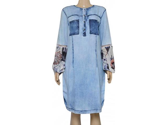 Vestido Feminino Moikana 180174 Jeans Claro