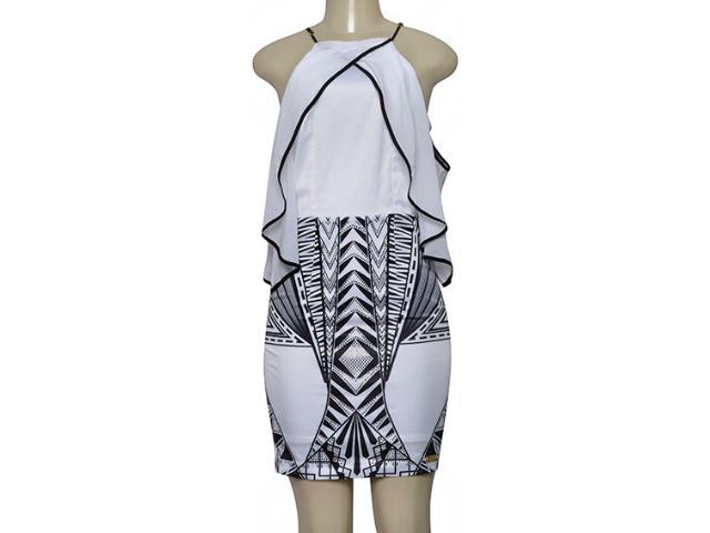 Vestido Feminino Moikana 230100 Branco/preto