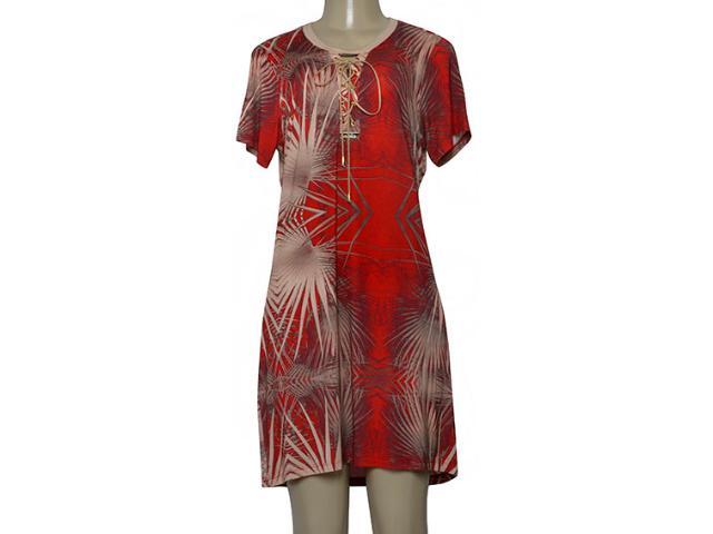 Vestido Feminino Moikana 230091 Vermelho/bege