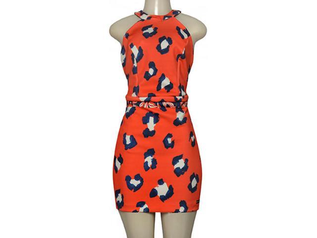 Vestido Feminino Moikana 190100 Laranja Estampado