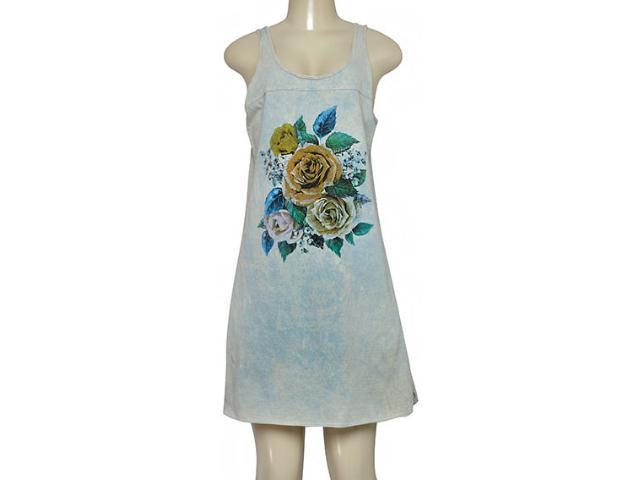 Vestido Feminino Moikana 190051 Azul Floral
