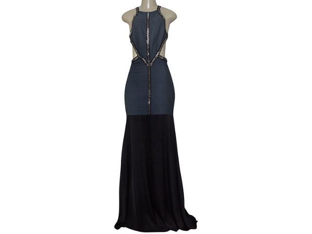 Vestido Feminino Moikana 180157 Grafite/preto