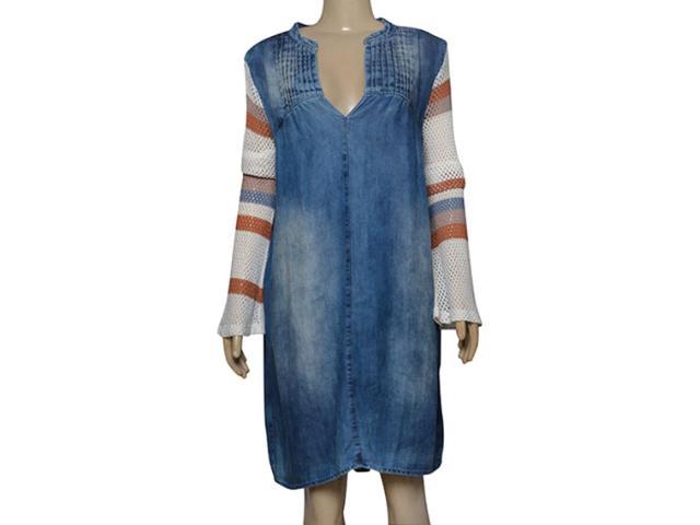 Vestido Feminino Moikana 210064 Azul/nude