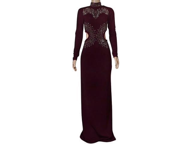Vestido Feminino Moikana 210140 Vinho