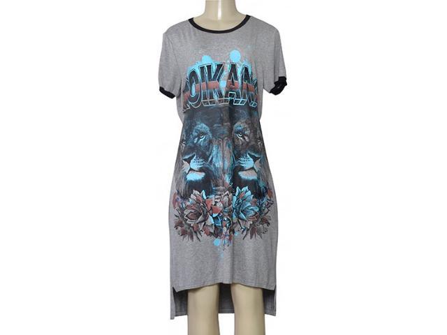 Vestido Feminino Moikana 210109 Mescla