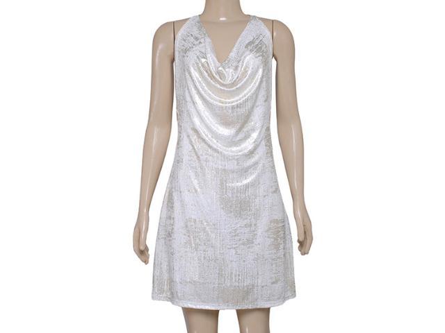 Vestido Feminino Morena Rosa 104159 Off White/dourado
