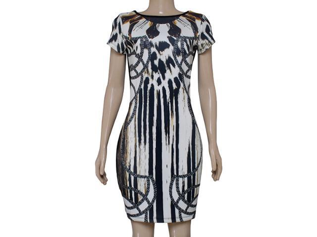 Vestido Feminino Morena Rosa 104073 Off White Preto Marrom