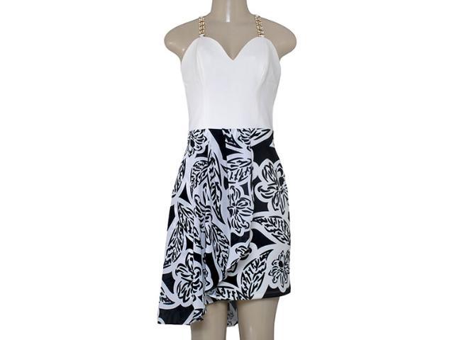 Vestido Feminino Morena Rosa 104204 Estampado Off/preto