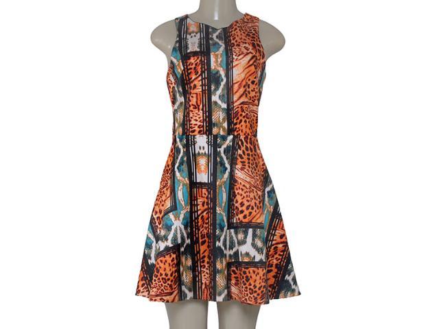 Vestido Feminino Morena Rosa 104264 Estampado Acqua/laranja