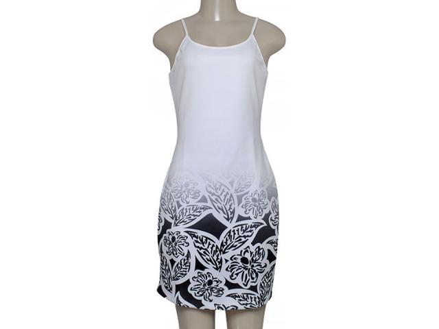 Vestido Feminino Morena Rosa 104202 Estampado Off/preto