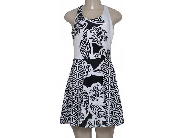 Vestido Feminino Morena Rosa 104210 Estampado Preto/off White