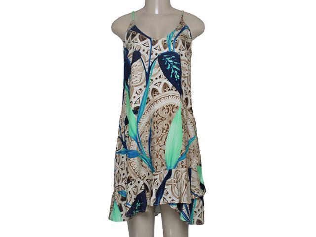 Vestido Feminino Morena Rosa 202172 Estampado Azul