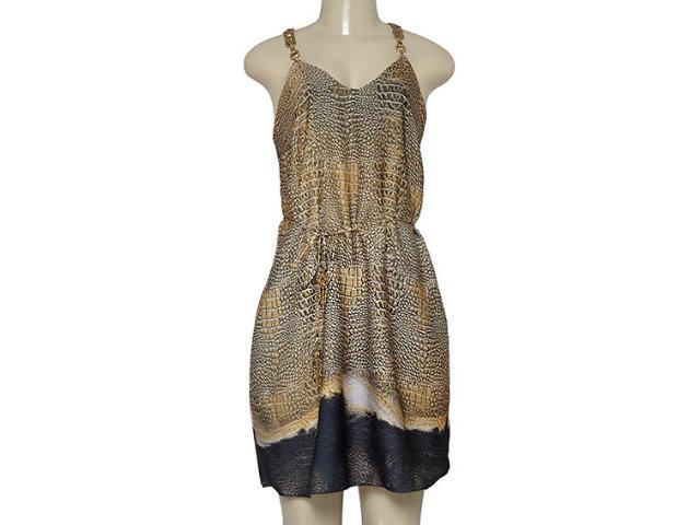 Vestido Feminino Morena Rosa 104072 Estampado Preto/marrom