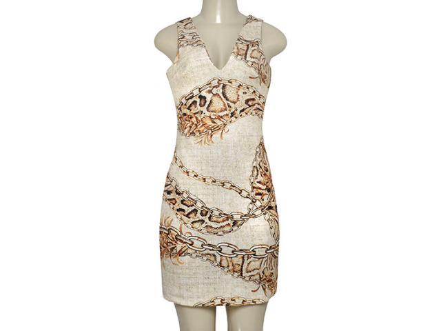 Vestido Feminino Morena Rosa 104390 Estampado Sepia