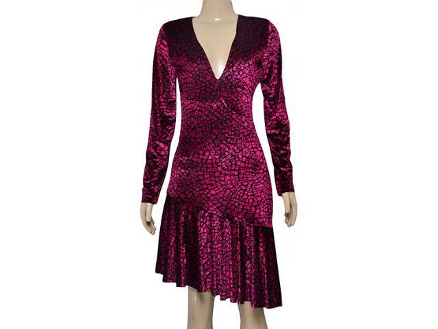 Vestido Feminino Morena Rosa 104799 Rosa Estampado Preto