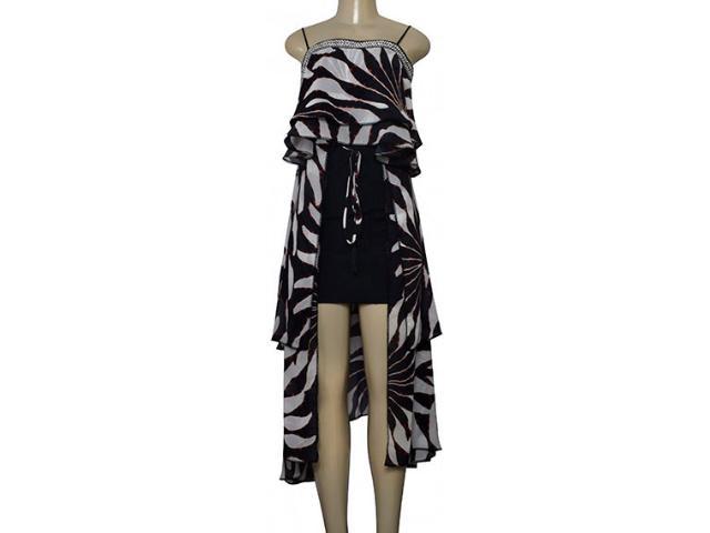 Vestido Feminino Morena Rosa 105974 Marinho Estampado