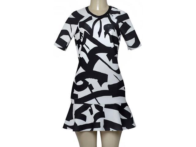 Vestido Feminino Morena Rosa 104687 Estampado Preto/branco