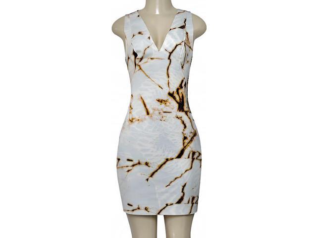 Vestido Feminino Morena Rosa 104803 Off White Estampado