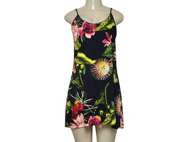 Vestido Feminino Morena Rosa 202583 Preto Floral