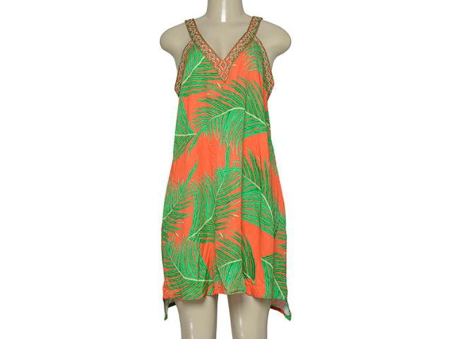 Vestido Feminino Morena Rosa 202711 Laranja/verde