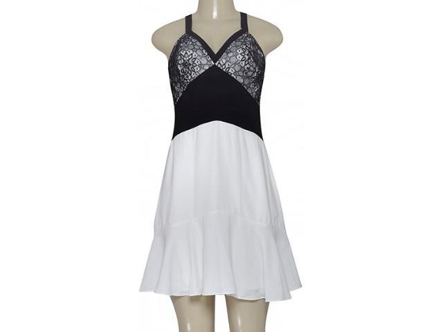 Vestido Feminino Morena Rosa 105244 Preto/off White