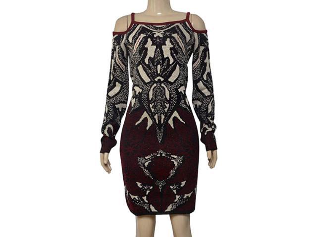 Vestido Feminino Morena Rosa 105711 Preto Estampado