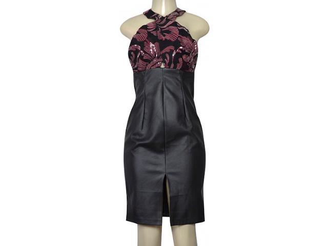 Vestido Feminino Morena Rosa 105796 Preto/vinho